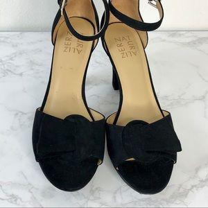 28b9ce8840 Naturalizer Shoes - Naturalizer Black Suede Platform Sandal Darla
